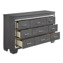 Load image into Gallery viewer, Homelegance Allura Gray Wood Finish 9 Drawer Dresser