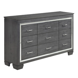 Homelegance Allura Gray Wood Finish 9 Drawer Dresser