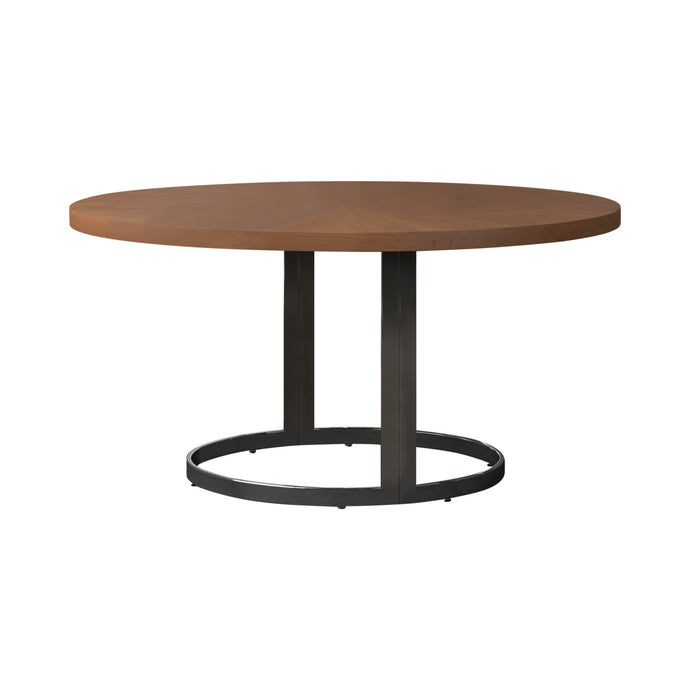Homy Living Marino Cherry Wood And Metal Finish Dining Table