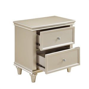 Homelegance Celandine Silver Wood Finish Nightstand