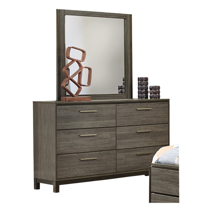 Homelegance Vestavia Dark Gray Wood Finish Dresser With Mirror