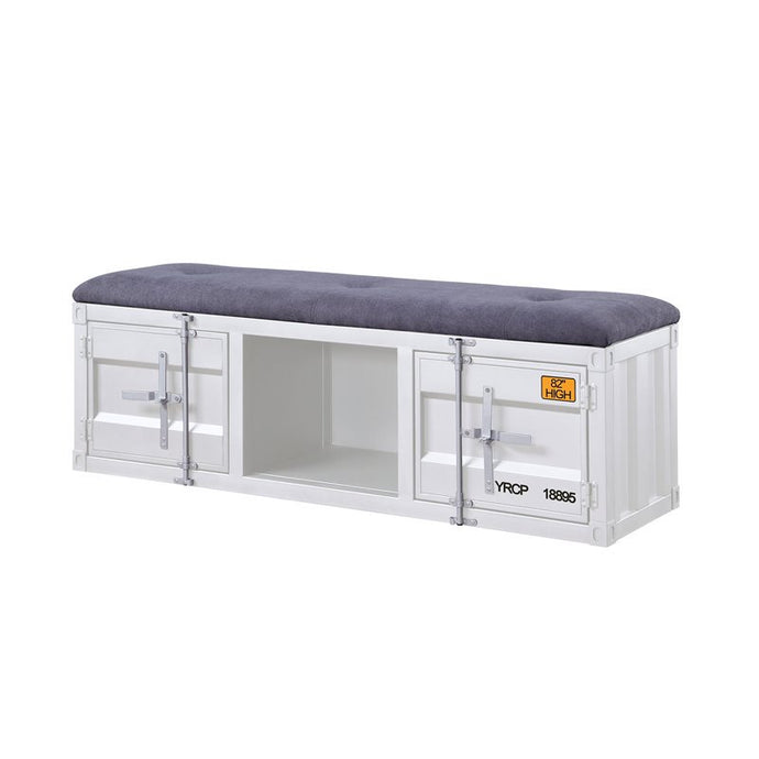 Acme Cargo White Metal Finish Kids Storage Bench