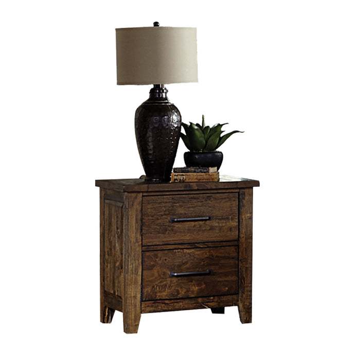 Homelegance Jerrick Rustic Brown Wood Finish Nightstand