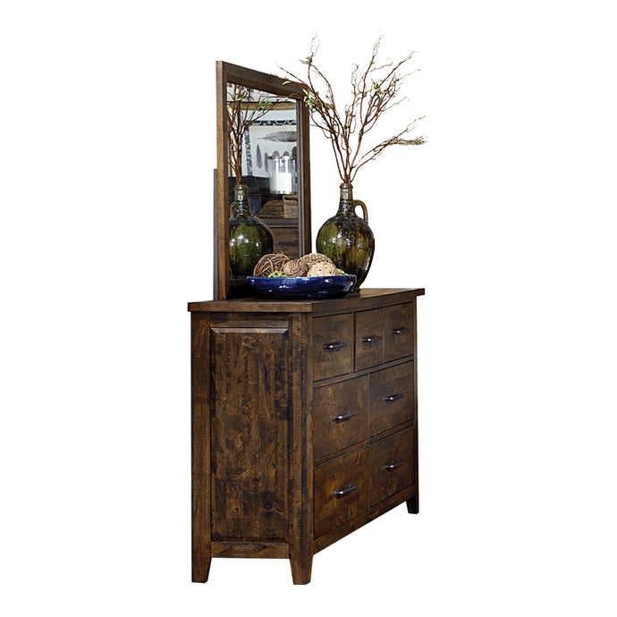 Homelegance Jerrick Rustic Brown Wood Finish Dresser With Mirror