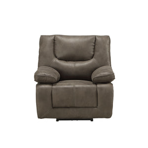 Acme Harumi Gray Leather Finish Recliner Chair