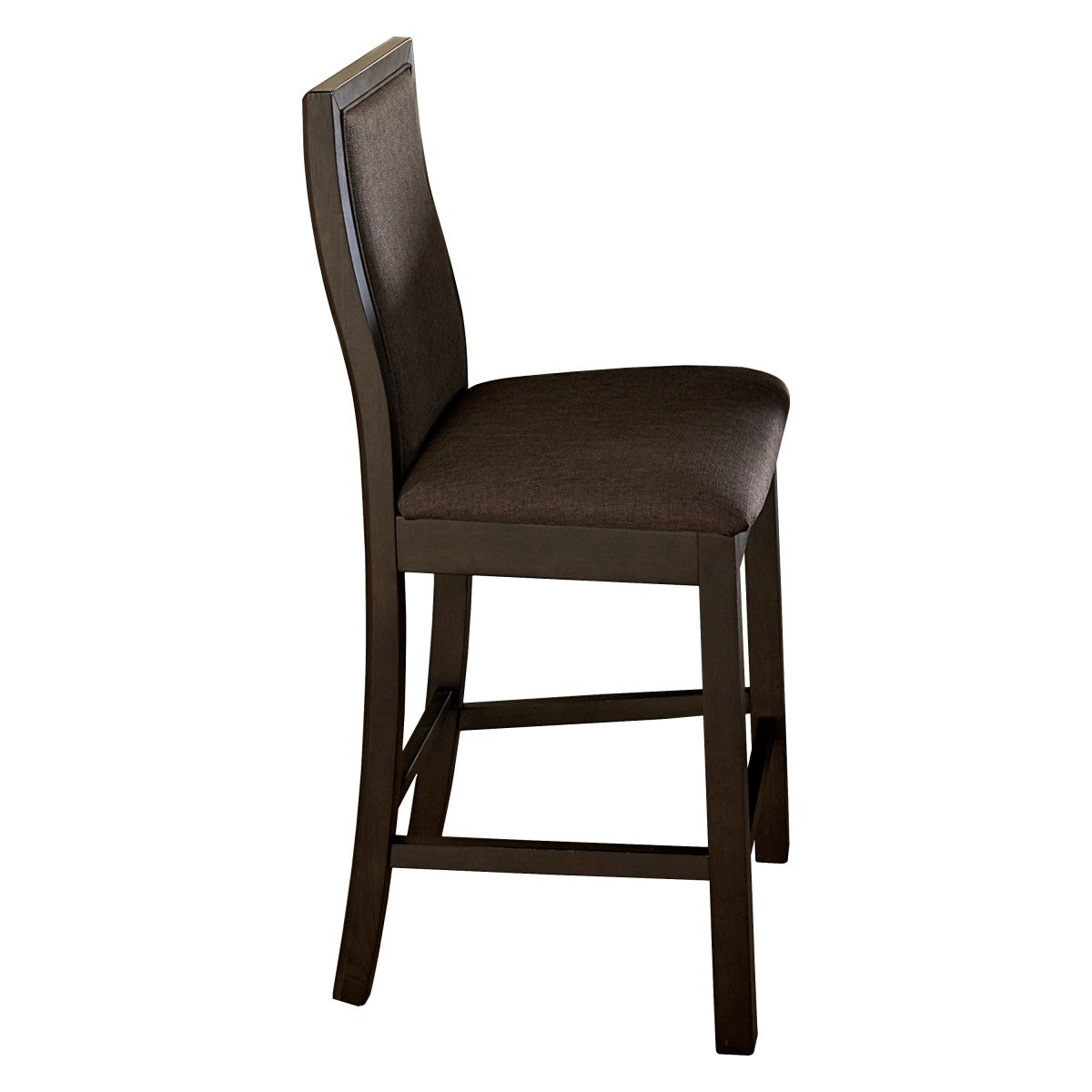 Homelegance Compson Walnut Wood And Leather Finish 2 Piece Counter Height Dining Chair