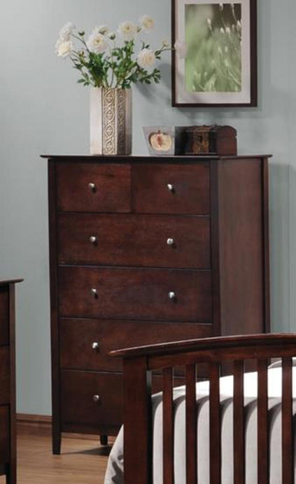 Tia Cappuccino Wood Drawers Finish Chest