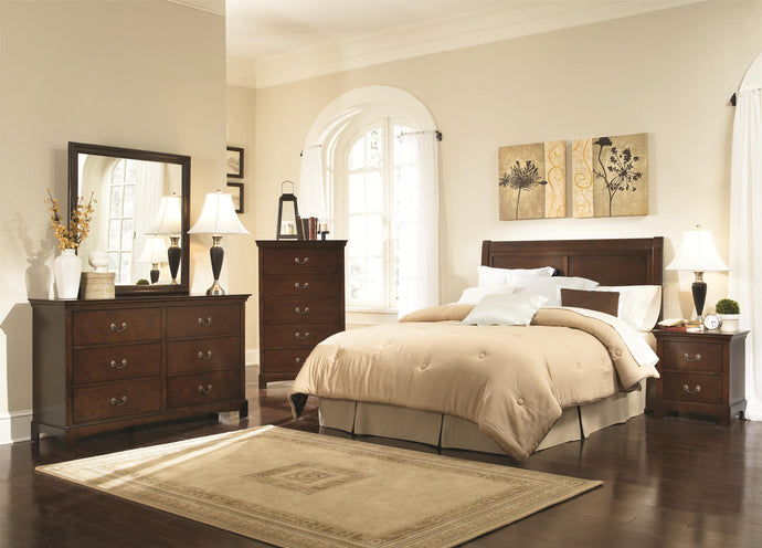 Coaster Tatiana Warm Brown 4 Piece Queen Headbord Bedroom Set