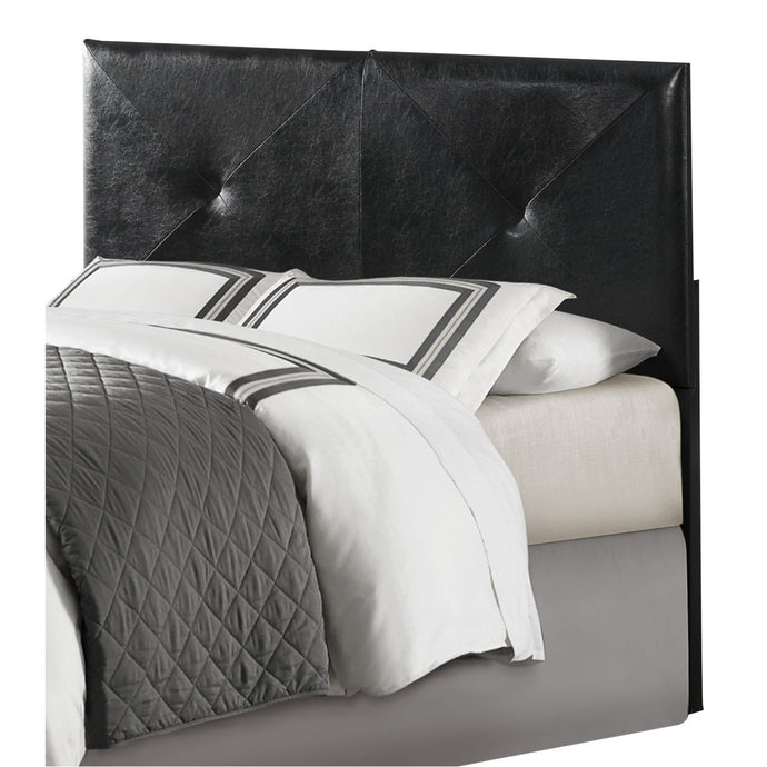 Homelegance Potrero Black Leather And Wood Finish Twin Headboard