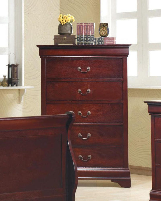 Louis Philippe Cherry Drawer Chest