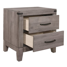 Load image into Gallery viewer, Homelegance Woodrow Oak And Black Wood Finish Nightstand