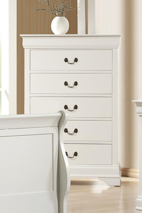 Louis Philippe White Drawers Chest