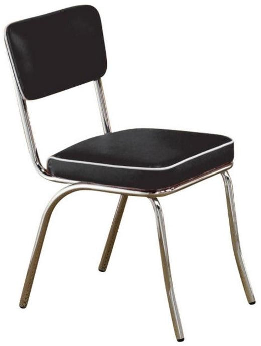 Coaster Chrome Plated Black Dining Side Chair Set of 2