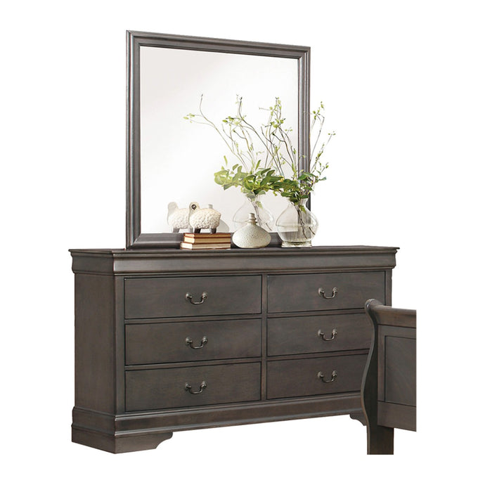 Homelegance Mayville Gray Wood Finish Dresser With Mirror