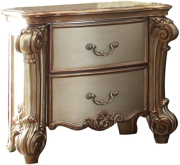 Acme Vendome Traditional Gold Patina Bone -Drawer Night Stand