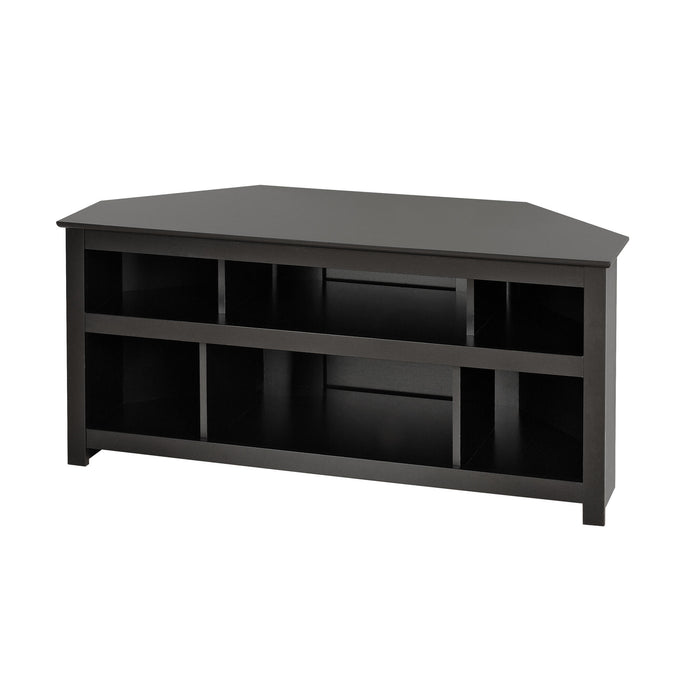 Prepac Vasari Black Wood Finish TV Stand