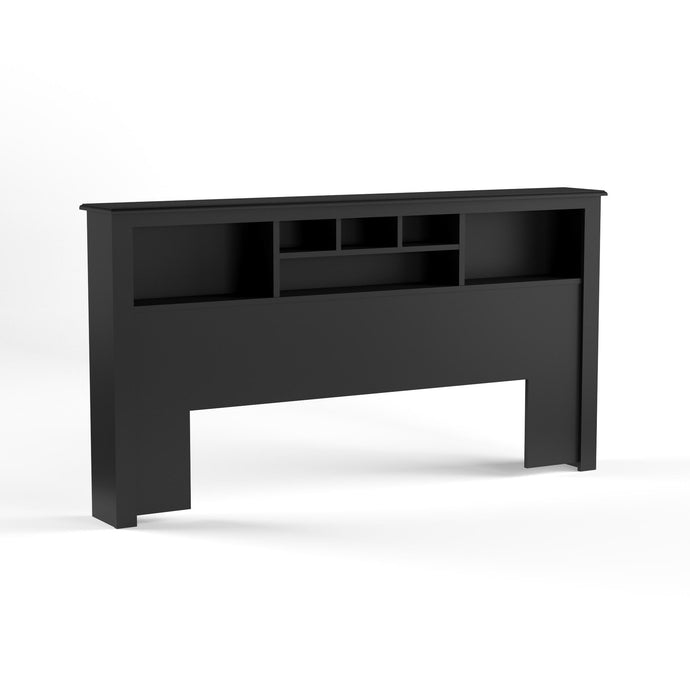 Prepac Black Wood Finish King Storage Headboard
