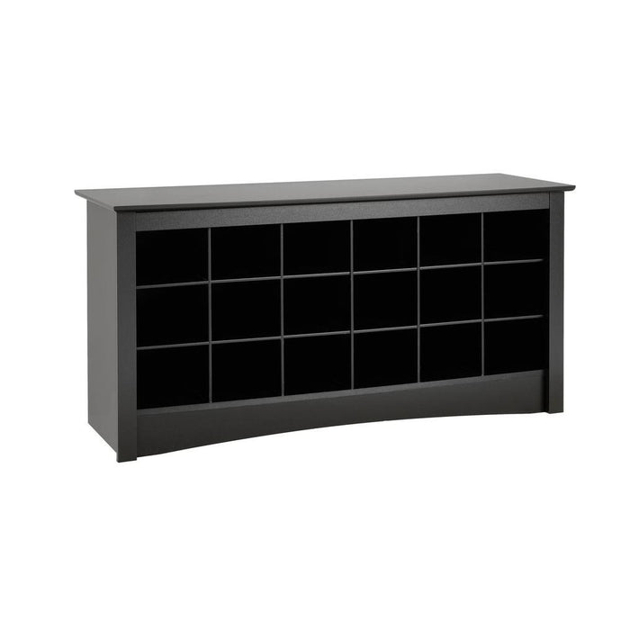 Prepac Sonoma Black Wood Finish Storage Bench