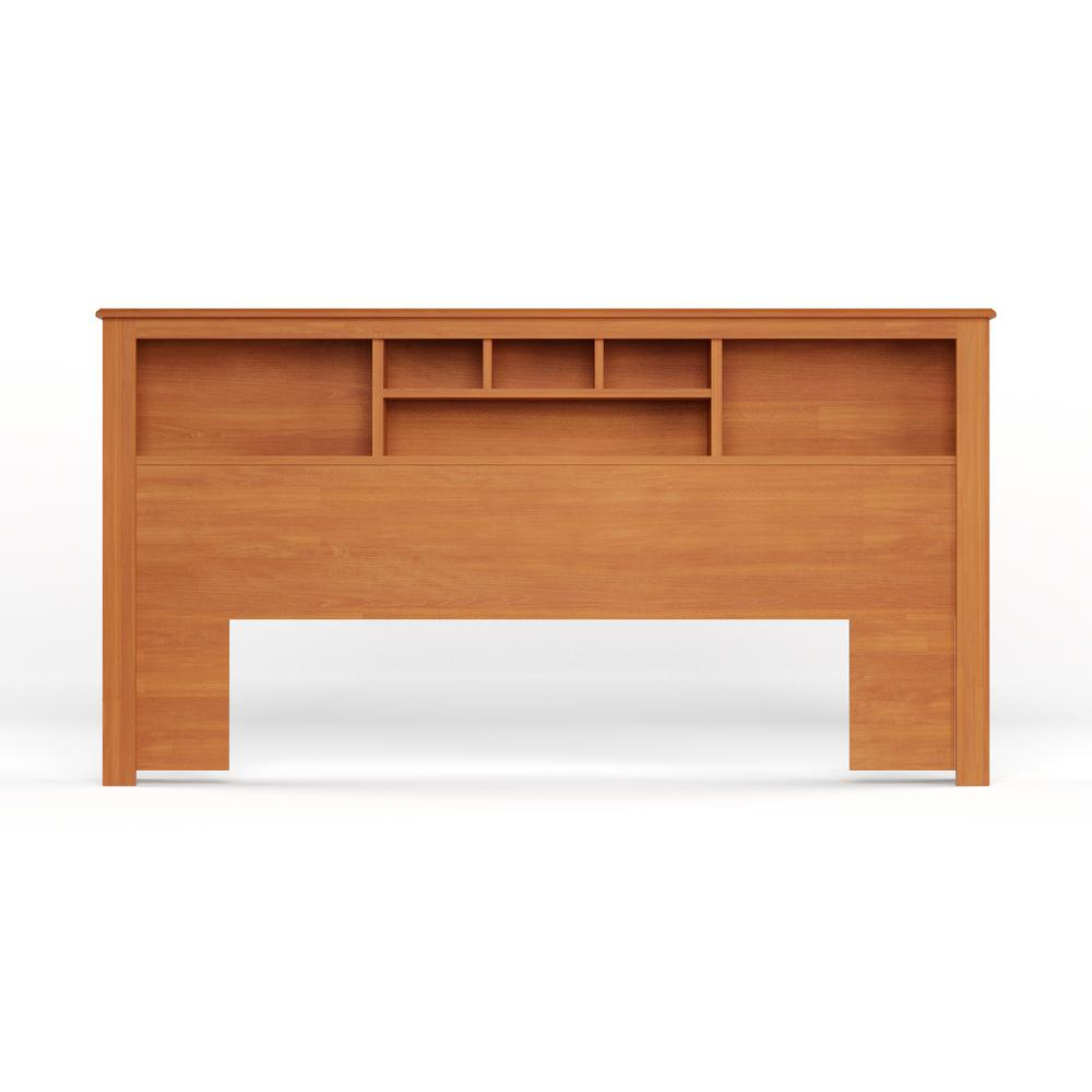 Prepac Monterey Cherry Wood Finish King Headboard