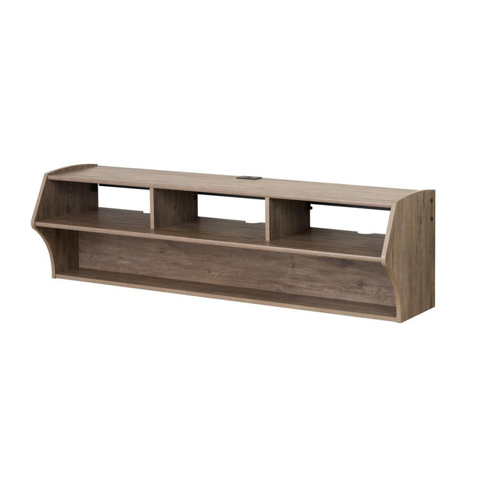 Prepac Altus Drifted Gray Wood Finish Wall Mounted TV Stand