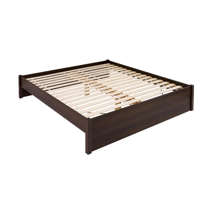 Prepac Select 4-Post Espresso Wood Finish Eastern King Platform Bed