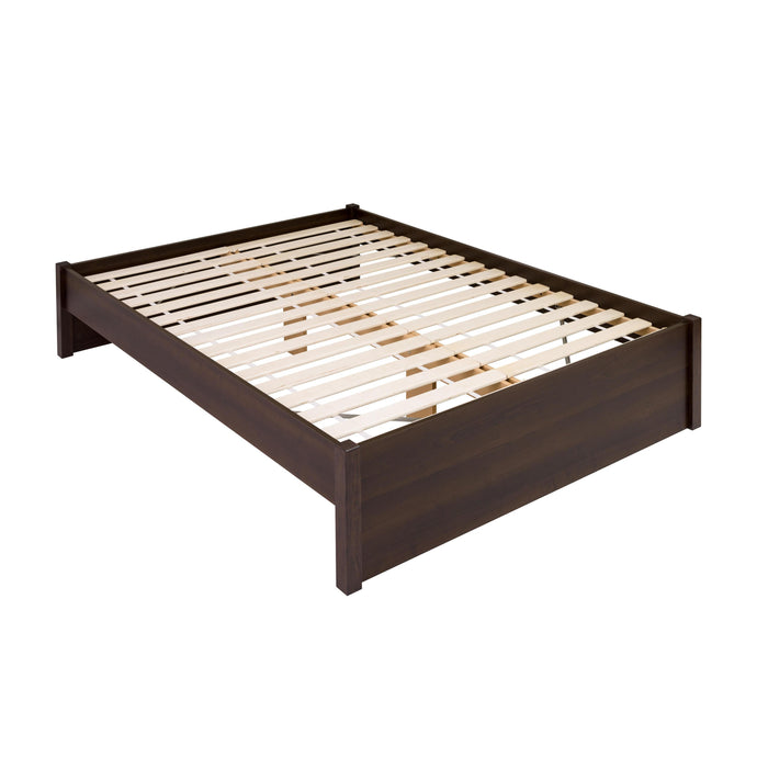 Prepac Select 4-Post Espresso Wood Finish Queen Platform Bed