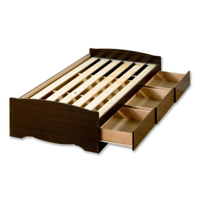 Prepac Fremont Espresso Wood Finish Twin XL Storage Bed