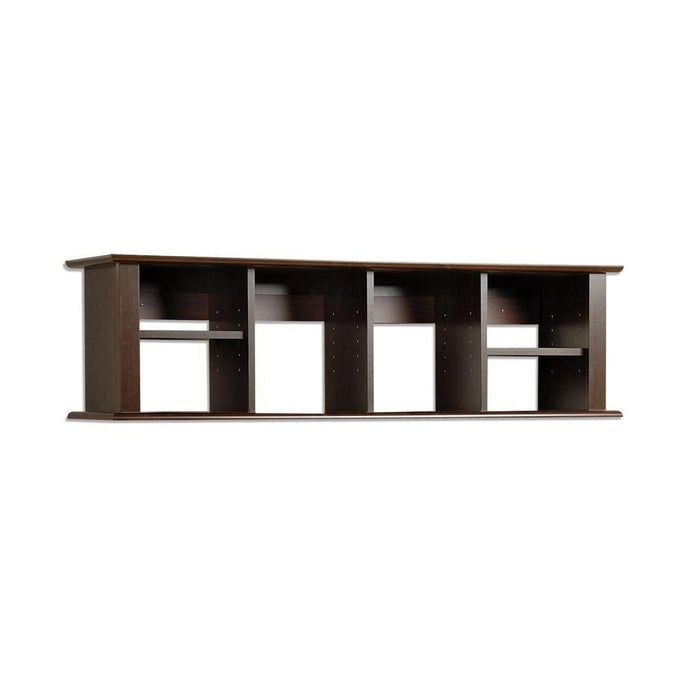 Prepac Espresso Wood Finish Wall Mounted Storage Hutch