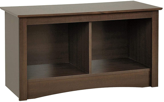 Prepac Espresso Wood Finish Storage Bench