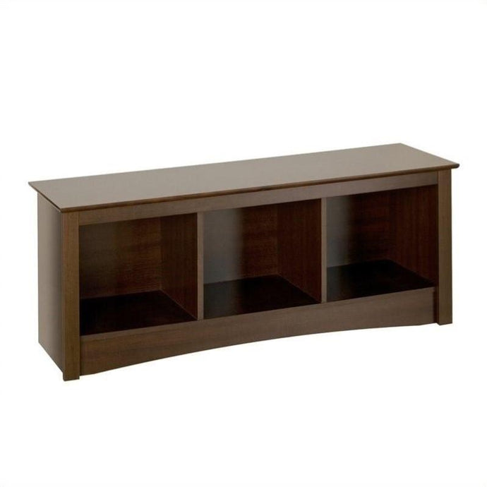 Prepac Fremont Espresso Wood Finish Storage Bench