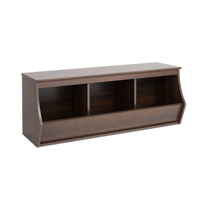 Prepac Rich Espresso Wood Finish Stackable 3-Cube Organizer