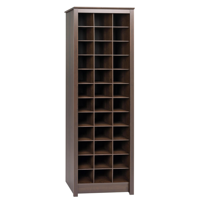 Prepac Espresso Wood Finish 36 Pairs Shoes Storage Cabinet