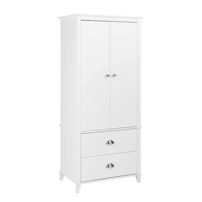 Prepac Yaletown White Wood Finish Armoire