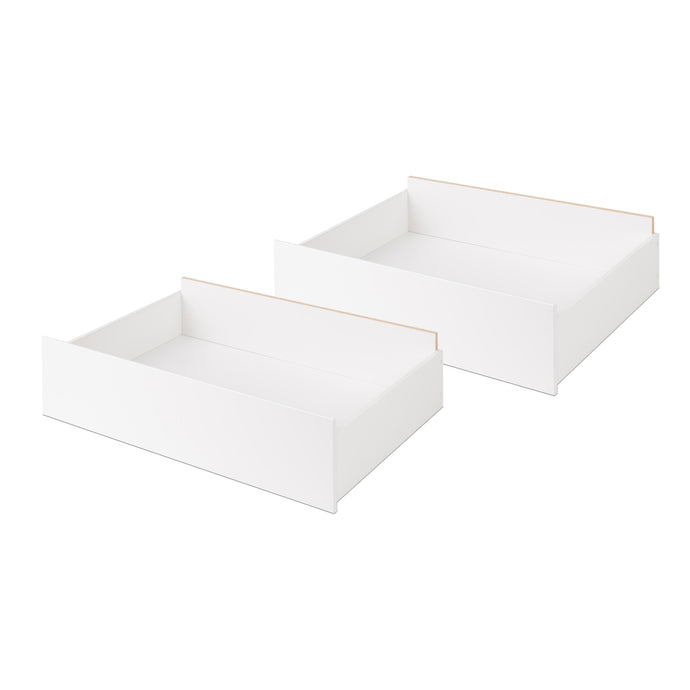 Prepac Select White Wood Finish 2 Piece Bed Drawer