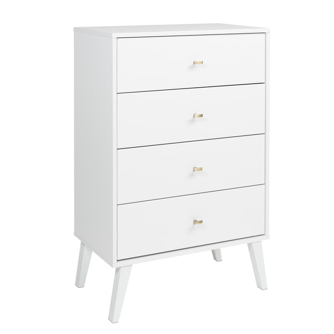 Prepac Milo White Wood Finish 4 Drawer Chest