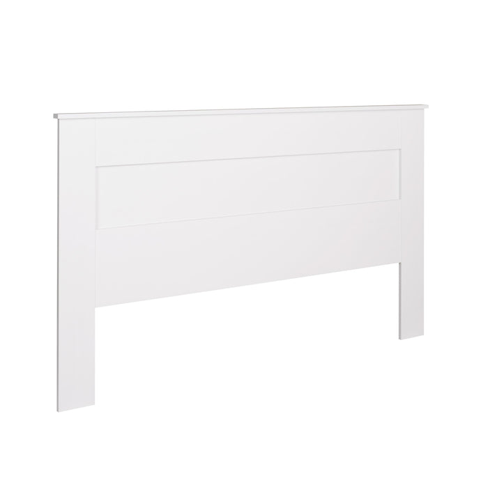 Prepac White Wood Finish King Flat Headboard