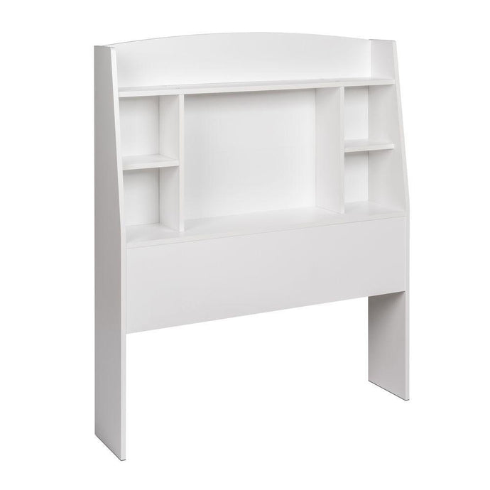 Prepac Astrid White Wood Finish Twin Storage Headboard