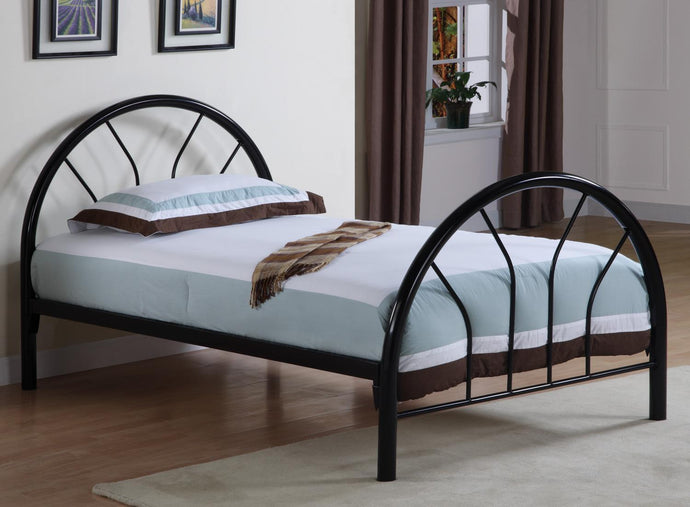 Contemporary Style Black Twin Metal Bed