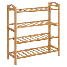Load image into Gallery viewer, Songmics 4 Tier Natural Bamboo Storage Organiser