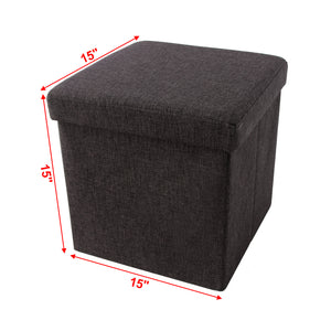 "SONGMICS 15"" x 15"" x 15"" Storage Ottoman Cube"