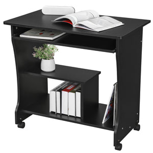 SONGMICS Movable Computer Desk Study Table Compact for Home or Office
