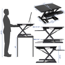 Load image into Gallery viewer, SONGMICS Table Top Standing Desk with Dual Monitor Support