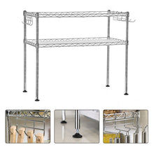 Load image into Gallery viewer, SONGMICS 2 Tier Wire Shelving Unit Storage Rack