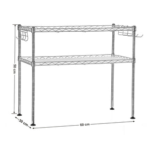 SONGMICS 2 Tier Wire Shelving Unit Storage Rack