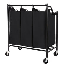 Load image into Gallery viewer, Songmics 3 Bag Rolling Laundry Sorter Cart