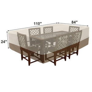 Songmics Outdoor Rectangular Patio Table and Chairs Cover