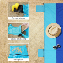Load image into Gallery viewer, Songmics Beach Mat Camping Hiking Blanket