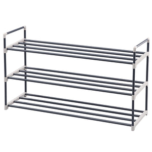 Songmics 3 Tier Grey Shoe Rack