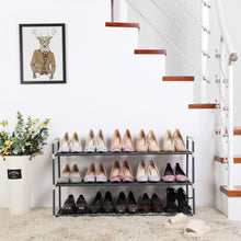 Load image into Gallery viewer, Songmics 3 Tier Grey Shoe Rack