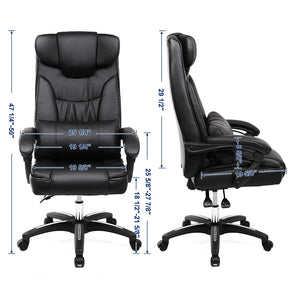 Songmics Swivel Black Office Chair UOBG76B